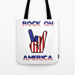 Rock On America - Patriot/Independence Day Tote Bag