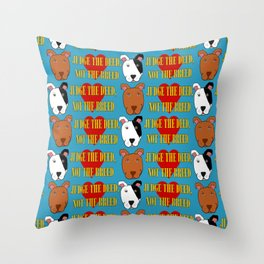 Pit Bull Love Throw Pillow