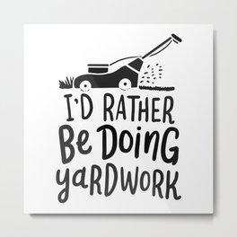 Gardener Lawn Mower Gift Metal Print