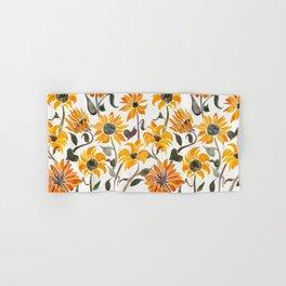 Sunflower Watercolor – Yellow & Black Palette Hand & Bath Towel