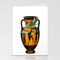 greek Stationery Cards featuring Ancient Greek by Fifikoussout