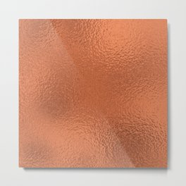 Simply Metallic in Deep Copper Metal Print