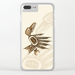 Dancing Ravens Clear iPhone Case