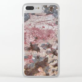 Cracking Paint and Rust Abstract Clear iPhone Case