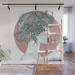 The Flowergirl Wall Mural