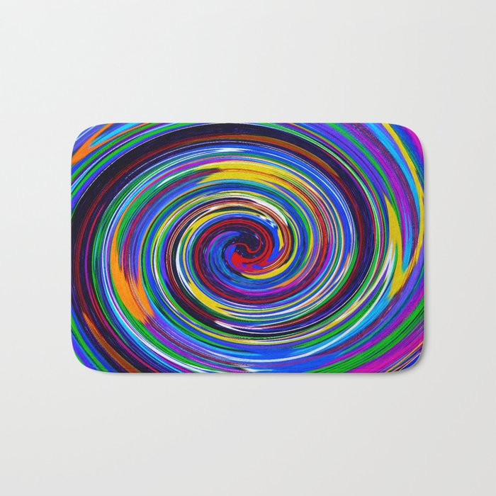Paint Swirl Bath Mat
