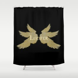 Lucifer with Wings Light Shower Curtain