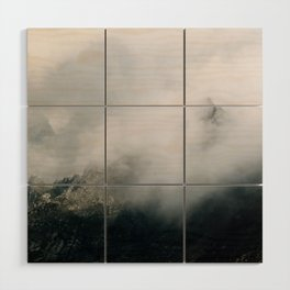 Mountain Range in the Clouds - Landscape Photography Wood Wall Art