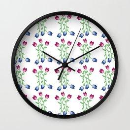 Tulips III Wall Clock