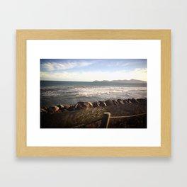 Coast-Line Horizon Framed Art Print
