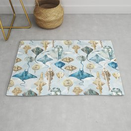 Small Ray Pattern Rug