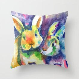 Bunny Pals Throw Pillow