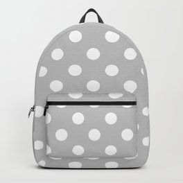 Polka Dots (White & Gray Pattern) Backpack