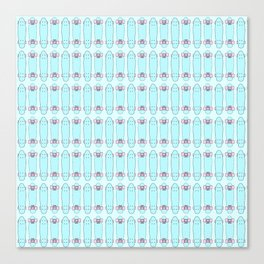 SKATEBOARDS ((pink and blue)) Canvas Print