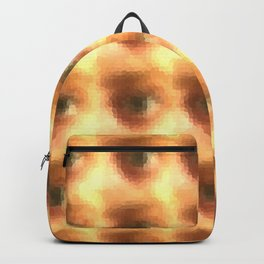Creepy cartoon eyes pattern Backpack