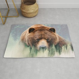 Grizzly Wood Rug