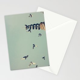 Flying Pigeons and Snakes Stationery Cards