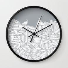 Abstract Mountain Grey Wall Clock