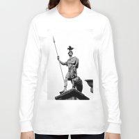 dublin Long Sleeve T-shirts featuring Guarding Dublin Castle by Biff Rendar