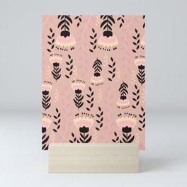 Floral blush Mini Art Print
