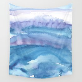 Blue Abstract Agate Wall Tapestry