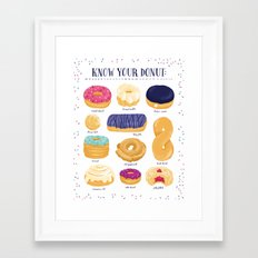 Donut Identification Framed Art Print