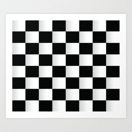 BLACK AND WHITE SQUARES Abstract Art Art Print
