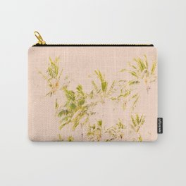 Palm trees in the wind, abstract, light pink Carry-All Pouch