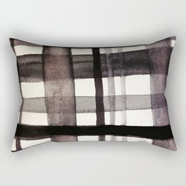 Painterly Plaid Rectangular Pillow