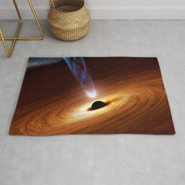 The Dark Arts of Nature & Space (Black Hole - Event Horizon) Rug