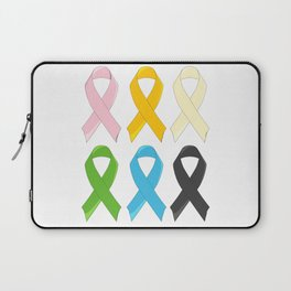 SIx Awareness Ribbons Laptop Sleeve