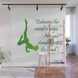 Yoga quote Wall Mural