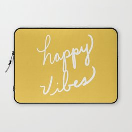 Happy Vibes Yellow Laptop Sleeve