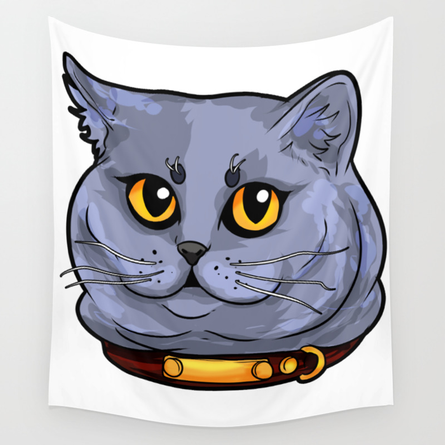 British Shorthair Cat Cats Face Sweet Cute Love Wall Tapestry By Moonpie90 Society6
