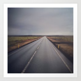 the road from iceland Art Print