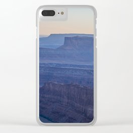 Layers of Blue Clear iPhone Case