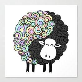 Yin Yang Sheep Canvas Print
