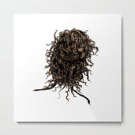 Messy dry curly hair 2 Metal Print