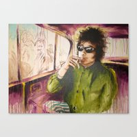 dylan Canvas Prints featuring Dylan by chemilia