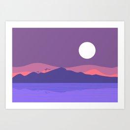Tropical Landscape 03 Art Print