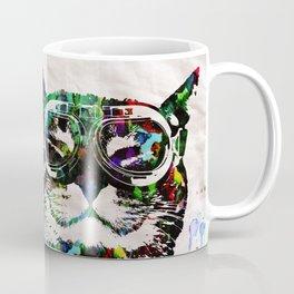Watercolor Cat Painter - Prints and posters by Robert R POP ART CUTE PETS Coffee Mug