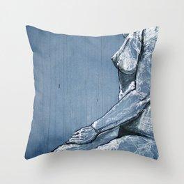 Ink Rain Throw Pillow