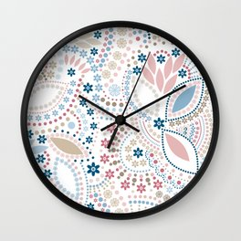 Colorful pattern of pastel light colors with beads Wall Clock