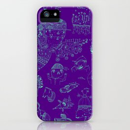 Space sketch iPhone Case