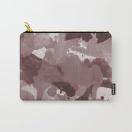 Pantone Red Pear Splatters Watercolor Camo Pattern Carry-All Pouch