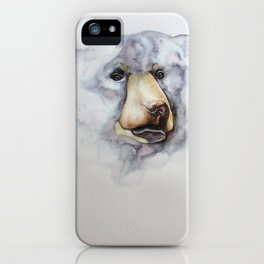 bear watercolour illustration iPhone Case