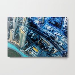 Dubai, Immense Work Non Stop Metal Print