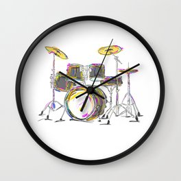 Drumming Is My Passion Music Drums T Shirt Wall Clock