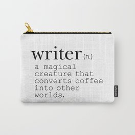 Writer Definition - Converting Coffee Carry-All Pouch