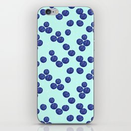 Blueberry Splash iPhone Skin